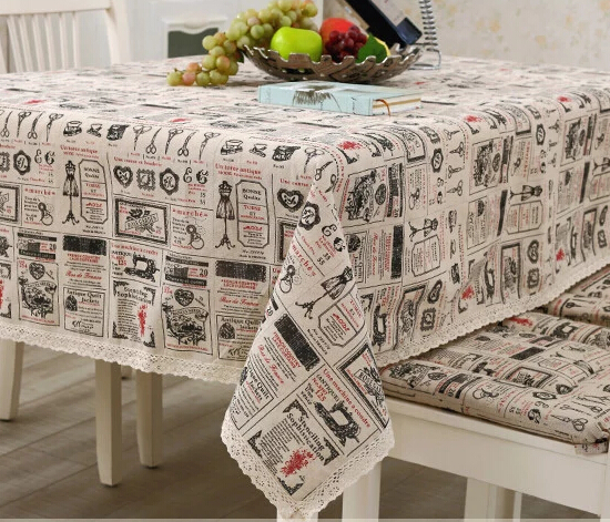 314-1# American country fashion linen lace table cloth tablecloth European coffee table mat wholesale(China (Mainland))