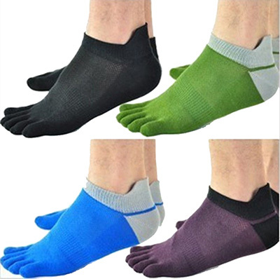 1 Pair Lot New Men s Socks Cotton Meias Sports Five Finger Socks Toe Socks For