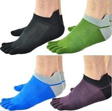 1 Pair/Lot New Men's Socks Cotton Meias Sports Five Finger Socks Toe Socks For EU 40-46 Calcetines Ankle Sok OM