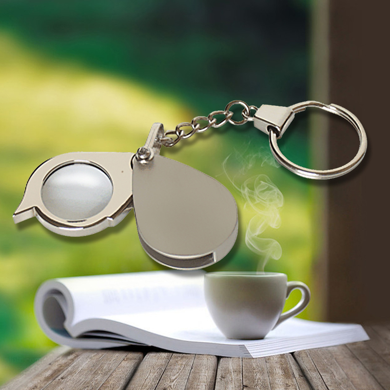 1 Pcs Portable 8X Folding Key Ring Magnifier with Key Chain Daily Magnifying Tool Good Quality And Low Price  Free Shipping<br><br>Aliexpress