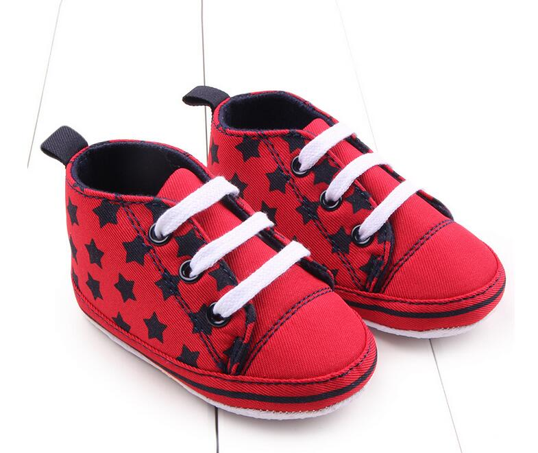 The new spring & autumn 2016 0 to 18 months, baby boy shoes pentagram fashionable canvas shoes 11-13cm ,baby girl shoes(China (Mainland))