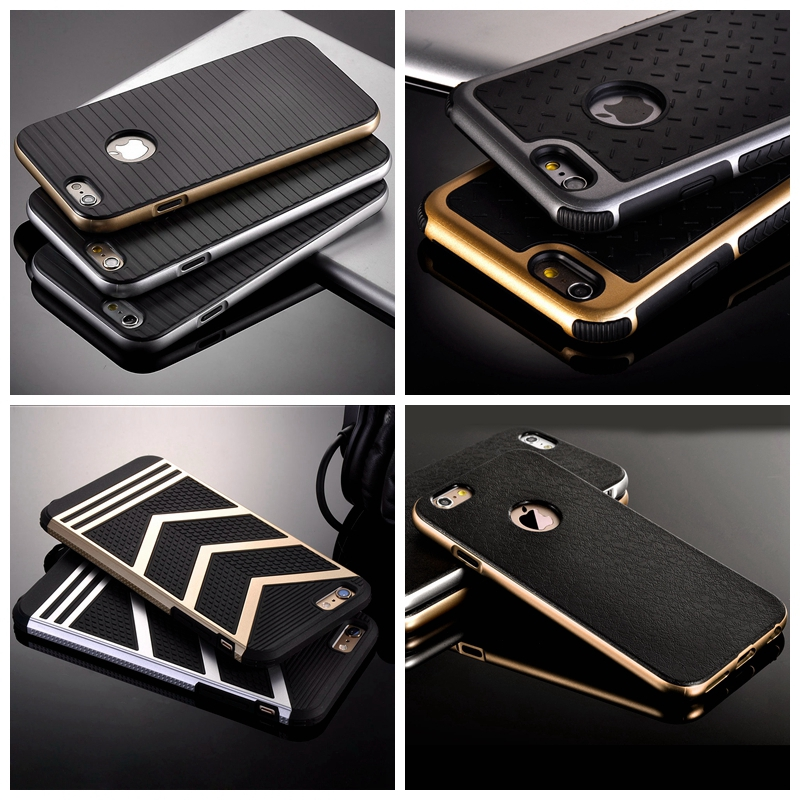 For Iphone 5s Cases Luxury Retro Hard Plastic Dual Layer Case For Apple iPhone 5 5S 5G Hybrid Slim TPU Cover Heavy Duty Shell(China (Mainland))