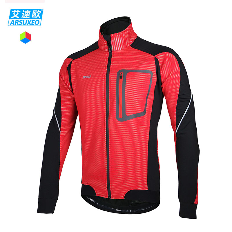 ARSUXEO 2015 Winter Warm Up Thermal Cycling Jacket Bicycle Clothing Windproof Waterproof Jersey MTB Mountain Bike Jacket 14D(China (Mainland))