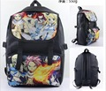 New Anime Colorful Fairy Tail Canvas Backpack Shoulder Bag school bag