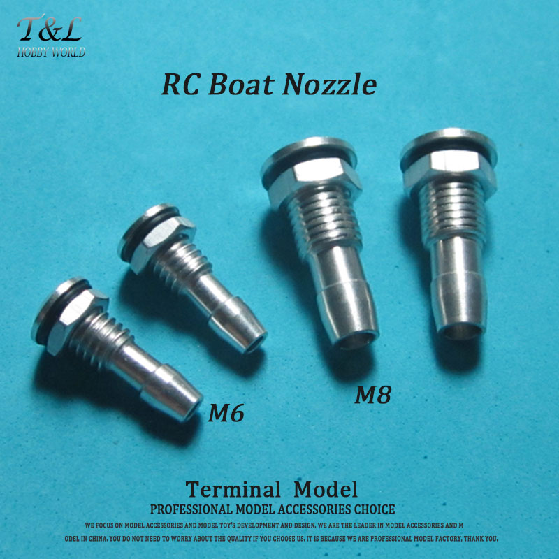 M6/M8 RC Boat Aluminum Nozzle Suitable For Electric Boat Methanol Gasoline Boat 26CC(China (Mainland))