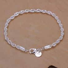 pulseira feminina Fashion Silver jewelry bracelets for women silver charm bracelet twisted Link bracelets & bangles