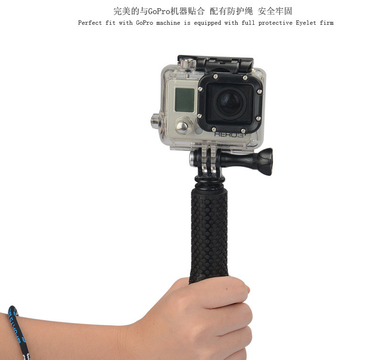 Gopro Accessories Monopod Tripod Extendable pole Stick Handheld Monopod with Mount Adapter for GoPro Hero 4 3 SJ4000 Xiaomi yi