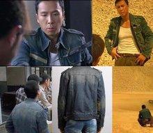 Free Shipping!!! NEW 2012 Fashion Men's High quality Handsome cowboy Jacket coat / M-XXL(China (Mainland))