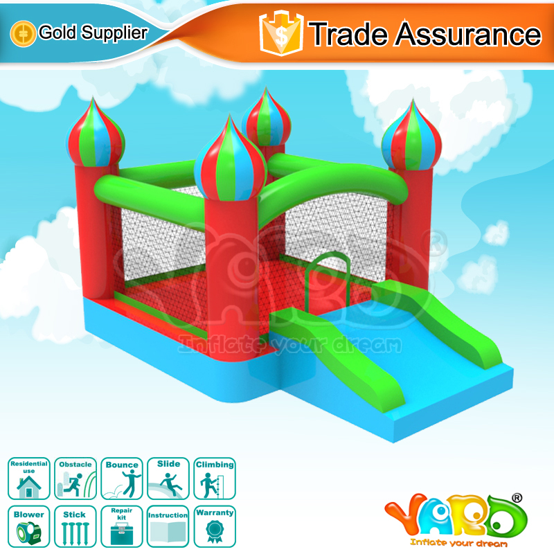 Mini residential bouncy castle moonwalk jump bounce house inflatable bouncer(China (Mainland))