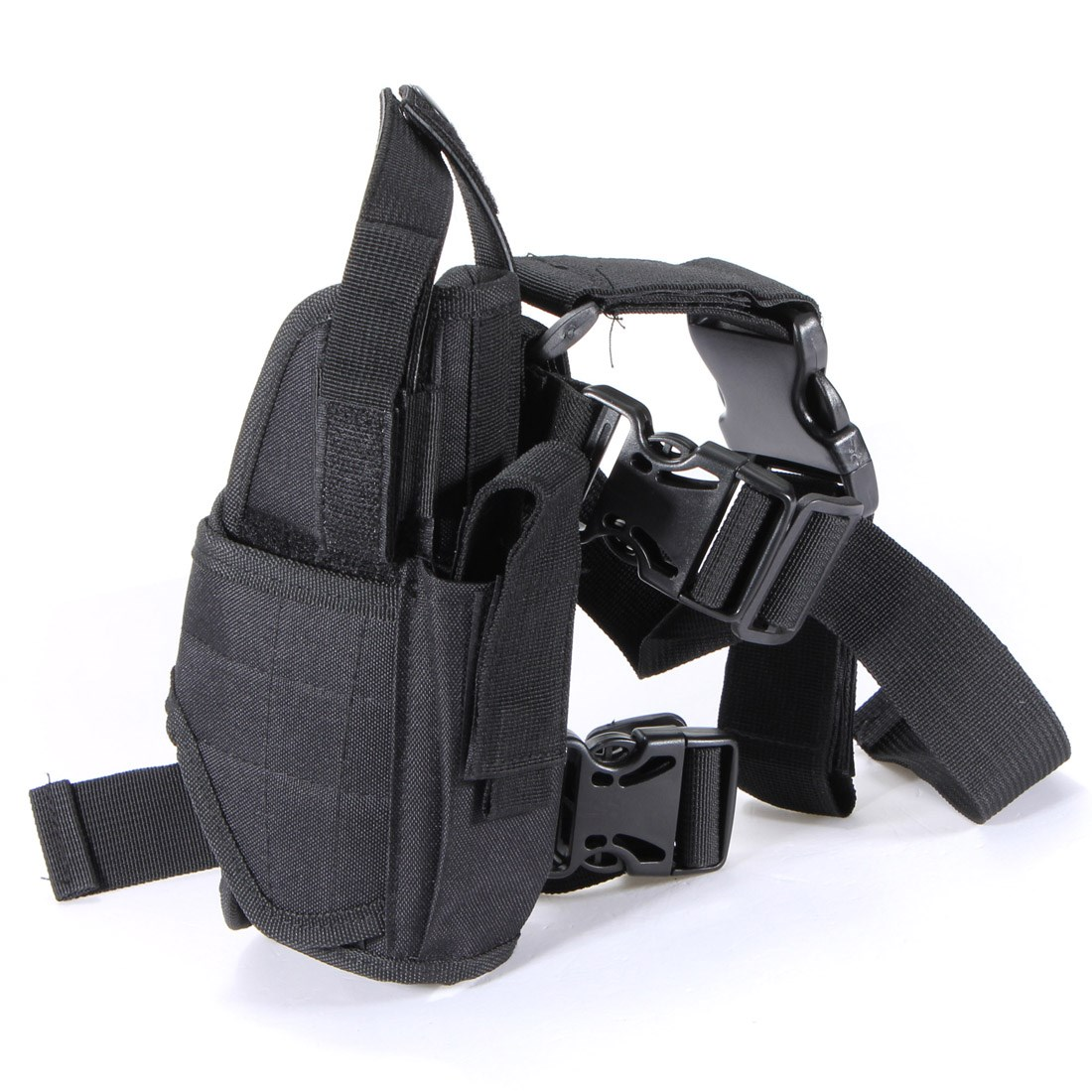 Hot Sale Outdoor Hunting Waterproof Military Tactical Adjustable Puttee Thigh Leg Pistol Gun Holster Pouch Quick Release Buckle(China (Mainland))