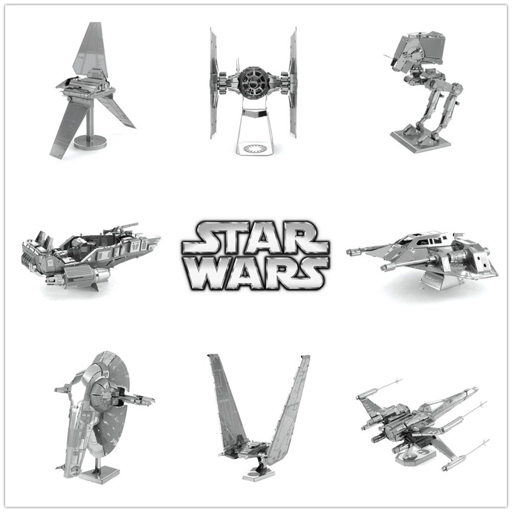 NEW Star Wars 7 Marvel Mass Effect Metallic 3D Puzzle Model ATST Slave I Apollo SX3 Shield Scale Puzzle Model Kits Toys for Gift(China (Mainland))