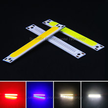 60x8mm 1W 3W red blue cold warm white COB strip LED light source bar lamp for DIY car work bicycle LED COB lights(China (Mainland))