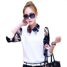 Femininas Blusas Y Camisas Mujer New chiffon Blouse Women Blouses Tops Woman  Print Basic Shirt Plus Size Vetement Femme Chemise