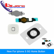 Buy original new iPhone 5 5g Home Button flex cable shield plate spacer assembly full sets Free for $1.44 in AliExpress store