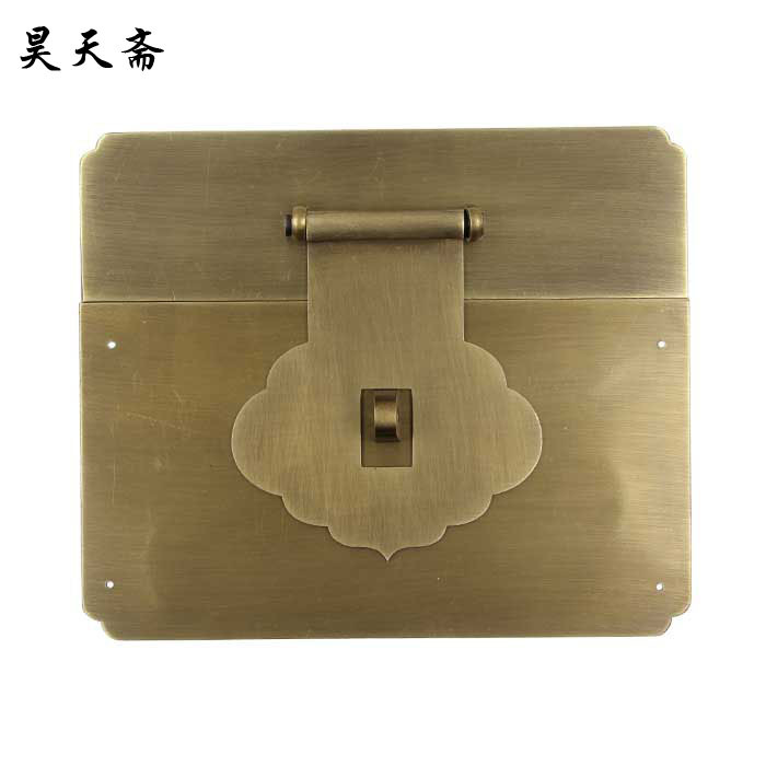 [Haotian fast] antique box old copper leaf surface Zhangmu Xiang sub box buckle clasp HTN-058<br><br>Aliexpress