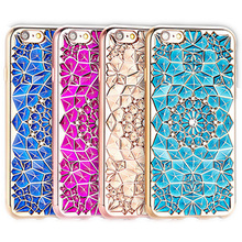 Luxury 3D Electroplating Flowers Rhinestone Bling Soft TPU Phone Cases Cover iPhone 7 7Plus 5 5G 5S SE 6 6G 6S 4.7 6Plus - One Shop,One Dream Co., Ltd store