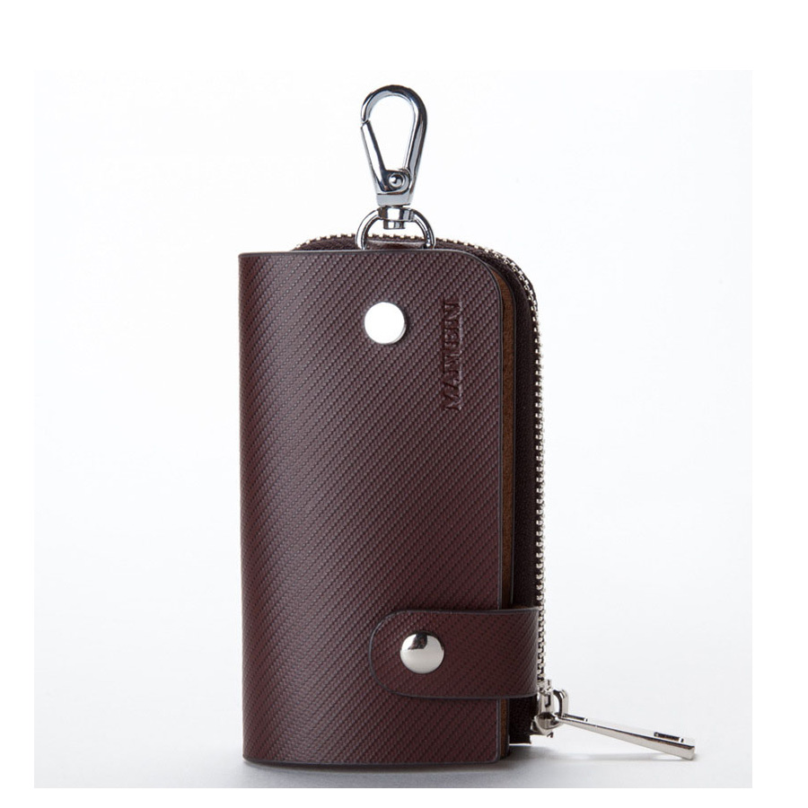 2016 The New Genuine Leather Unisex Card Bag Key Bag A Variety Of Functions Hang The Waist Car Zipper Key Case Holder(China (Mainland))
