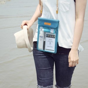 Ocean Beach Mobile Cell Phone Waterproof Bag Travel Necessity Storage Bags 17*13.7cm BB-FS001(China (Mainland))