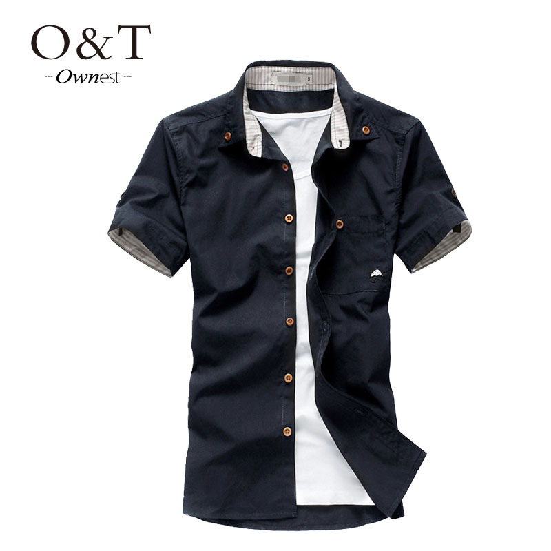 Ownest new arrival hot sale men shirt 2015 new casual men for Mens designer casual shirts sale