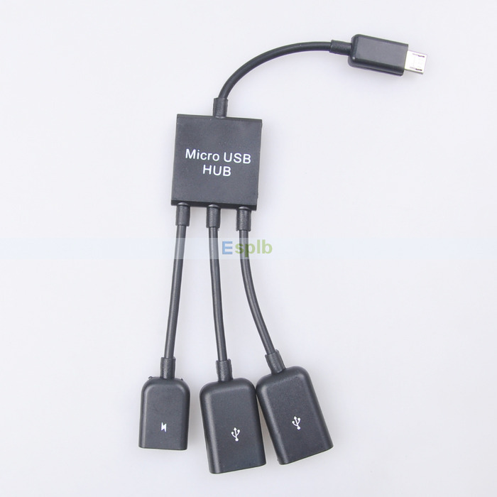 Micro USB Hub 3 Port to 1 OTG Hub Cable Adapter Converter Extender for Micro-USB OTG Function Phone(China (Mainland))