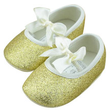 Buy Hot 3-12 Months Toddler Baby Girl Shine Antislip Shoes Bowknot Soft Sole Ribbon Crib Shoes Girls First Walkers PY X5H2 for $2.21 in AliExpress store