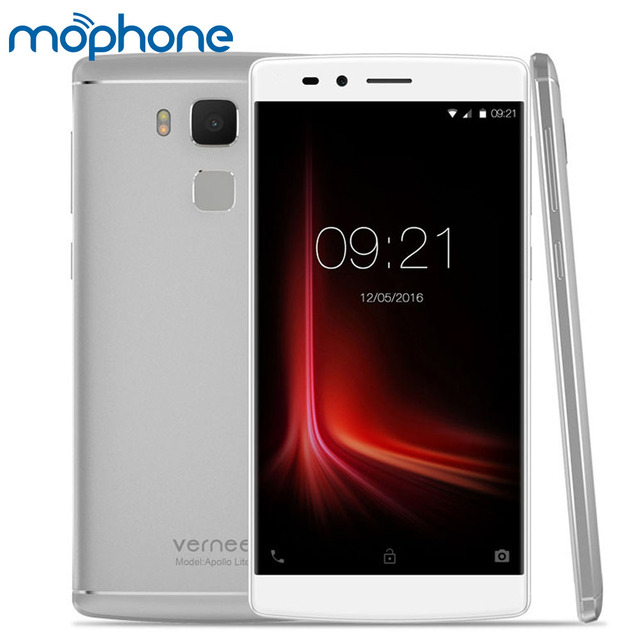 "Vernee Apollo Lite 4G MTK6797 Helio X20 Deca Core Smartphone 5.5"" 2.5D FHD Android 6.0 4GB+32GB 16.0MP Fingerprint Cellphone"