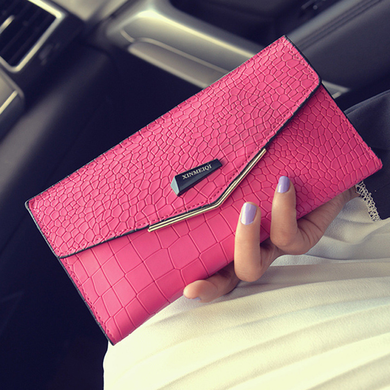 Long Design Zipper Wallet Women Ladies Leather Wallet Alligator Pattern Purses and Handbags With Card Holder Envelop Clutch()