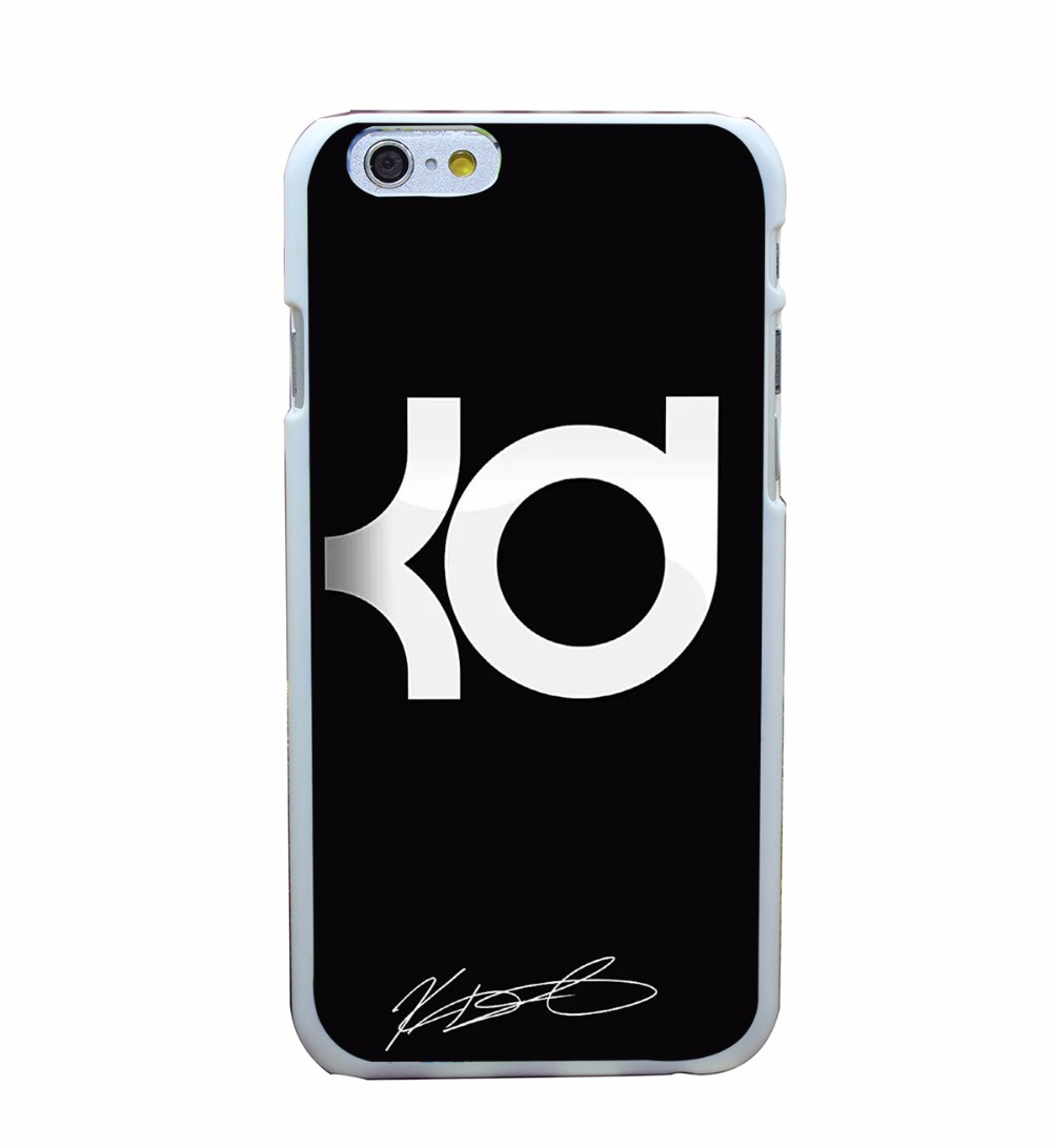 17X Basketball Star Kevin Durant KD Hard White Cover Cases for iPhone 6 6s plus 5 5s 4 4s 5C Phone Case Shell(China (Mainland))