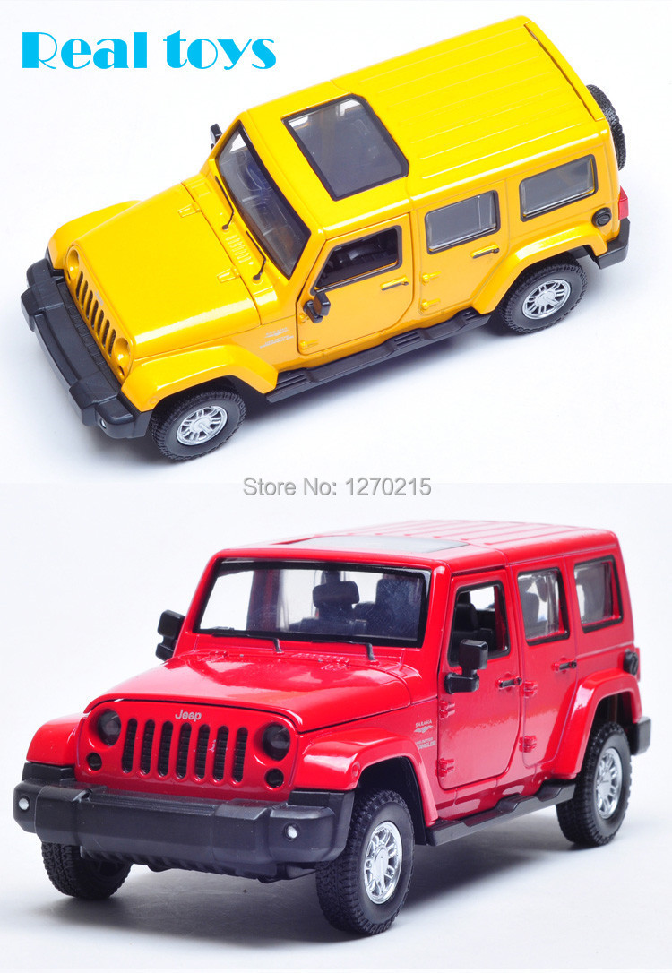 1/32 scale diecast car model Jeep Wrangler pull back with light and sound 2 colors(China (Mainland))