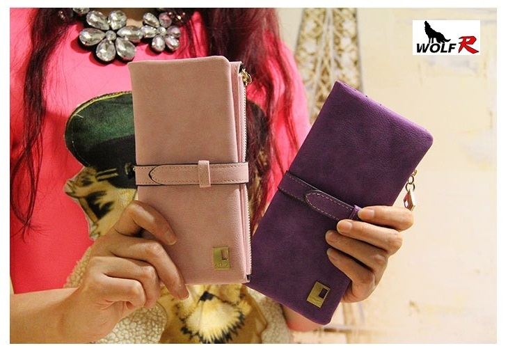 2015 Women Wallets new winter fashion trends pumping frosted multi-card position two fold wallet lady Ms. Long purse card(China (Mainland))