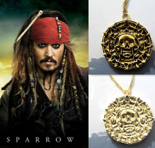 Pirates of the Caribbean Aztec Skull Pendant Necklace Exaggerated Jewelry Men Fashion Vintage Necklace for Gifts