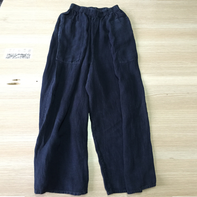 Creative Coffee Loose Cotton Linen Casual Ankle Length Pants Women Clothes P120 | FantasyLinen