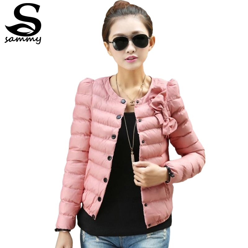 2014 new women ZAB padded jacket to keep warm in winter, ladies fashion, decorative bow, Slim short jacket Outerwear & Padded(China (Mainland))