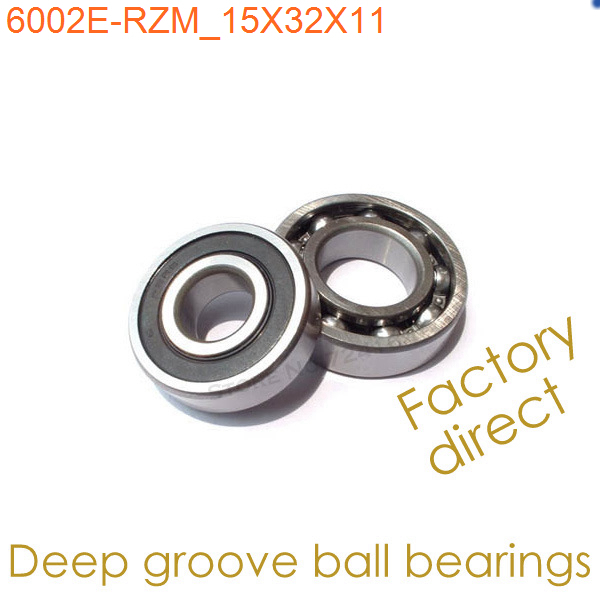 15mm Diameter Deep groove ball bearings 6002 E-RZM 15mmX32mmX11mm Single rubber sealing cover ABEC-1 Brass cage CNC,Machinery - Shanghai Precision Machinery Co., Ltd. store