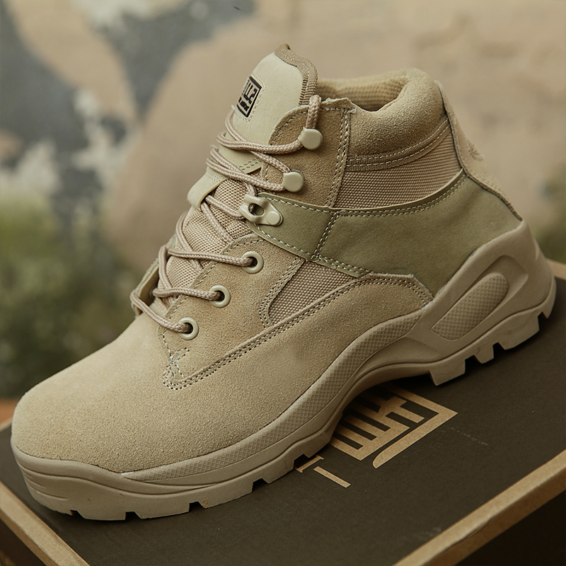 Outdoor Male Genuine wear-resisting army fan military boots man Mechanik combat breathable tactical desert high shoes