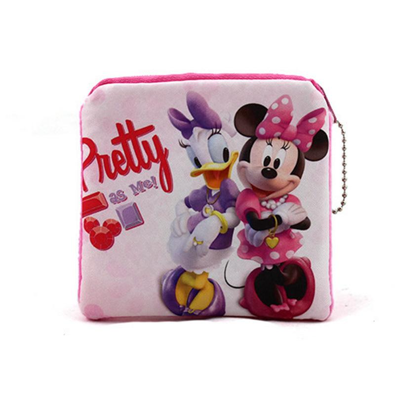 New Fashion Women Plush Coin Change Purse Cartoon Cute Minnie Mickey Zipper Mini Children Bag Wallets Girl For Gift <br><br>Aliexpress
