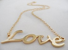 Wholesale Jewelry Fashion Girls Oversized Love Short Necklace Choker Cheap Letter Collier Gift 1989(China (Mainland))