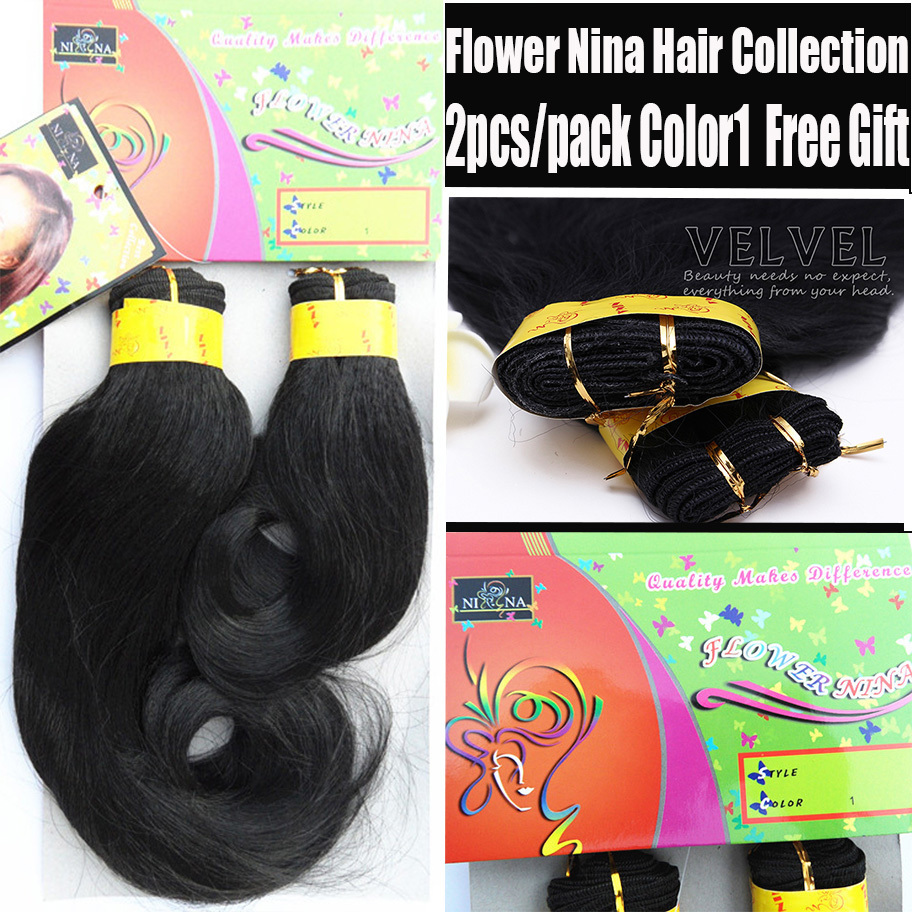 1PC+Fast Shipping Flower Nina Hair Weft 2pc/Pack 12+14 Loose Wave Synthetic Hair Extension Black Hair Weave Queen Weave Beauty<br><br>Aliexpress