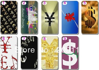 10PCS/LOT New CURRENCY DESIGN Hard Back Case Cover Skin for iPHONE 5 5G 5TH Mobile Cell Phone Free Shipping