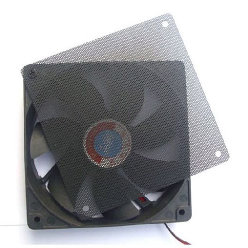 1PC 120x120mm Computer PC Dustproof Cooler Fan Case Cover Dust Filter Cuttable Mesh Fits Standard 120mm Fans + 4 Screws(China (Mainland))