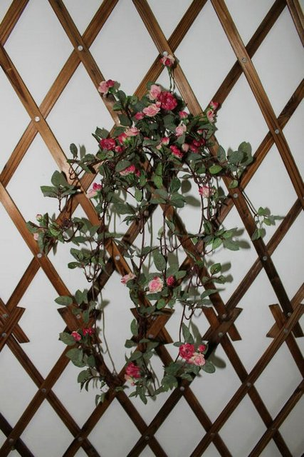 Rose vine wall decoration plastic vine artificial flower rattails floral wall
