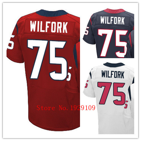 2015-2016 Men's #75 Vince Wilfork Jerseys Red/White/Blue Stitched Name and Number(China (Mainland))