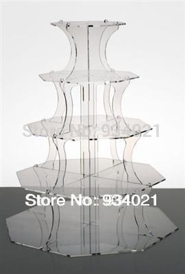 5 Tier Acrylic Cupcake Stand / Perspex Cupcake Stand / Cake Stands Vintage(China (Mainland))
