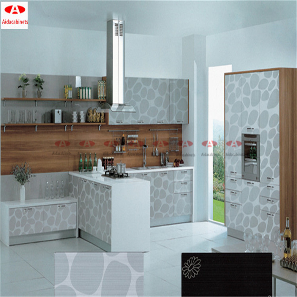 Modern Mirror White Free Standing Stainless Steel Kitchen