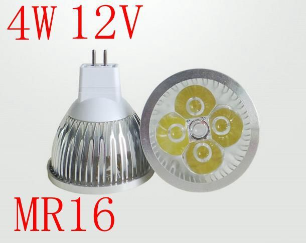 MR16 LED Lamp 4W Spot lighting DC 12V Jewelry display bulbs decorating lamp High Power Warm|Cold white Free Shipping 5pcs/lot