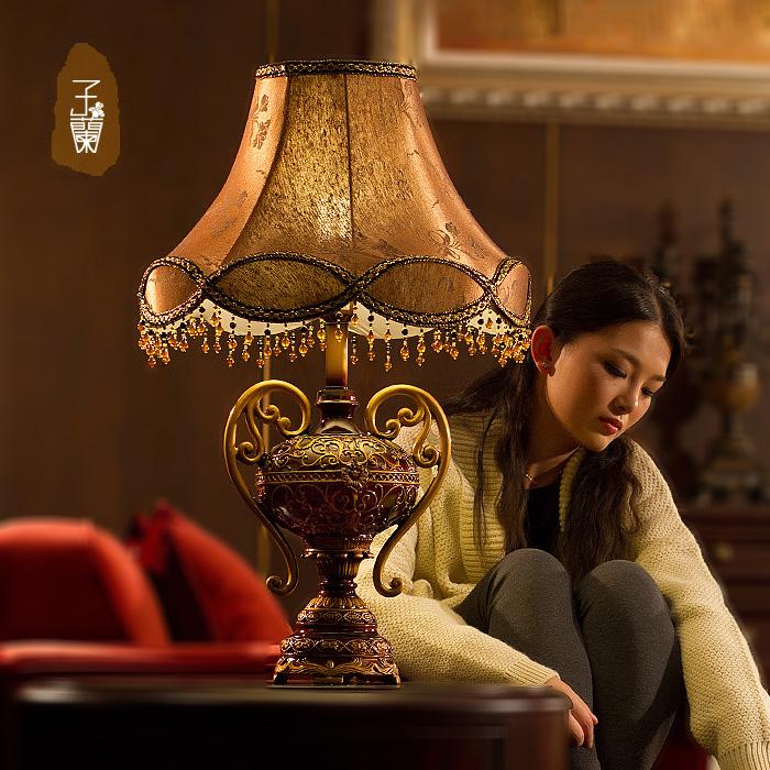 2015 W14*H24 vintage table lamps for bedroom,e27 110v220v led bulb american rusin abajur para quarto dimming<br><br>Aliexpress