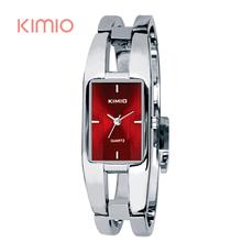Kimio Woman Watches 2015 Brand Luxury Rectangle Stainless Steel Bracelet Watch For Women Dress Quartz-watch Wristwatches Clock