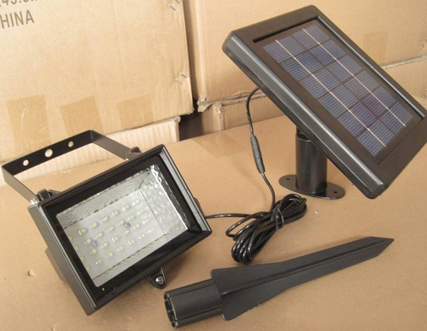 1pc Solar Led Flood Lights 30 Leds Garden Outdoor Projecting Landscape Lawn Lamp Solar Powered Wall(China (Mainland))