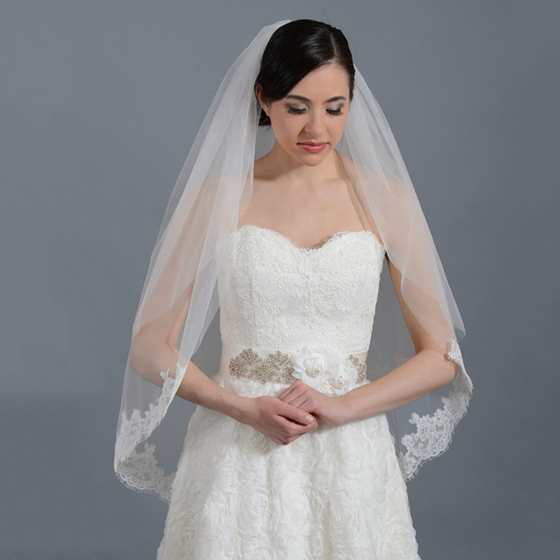 champagne lace wedding veil buy cheap champagne lace wedding veil