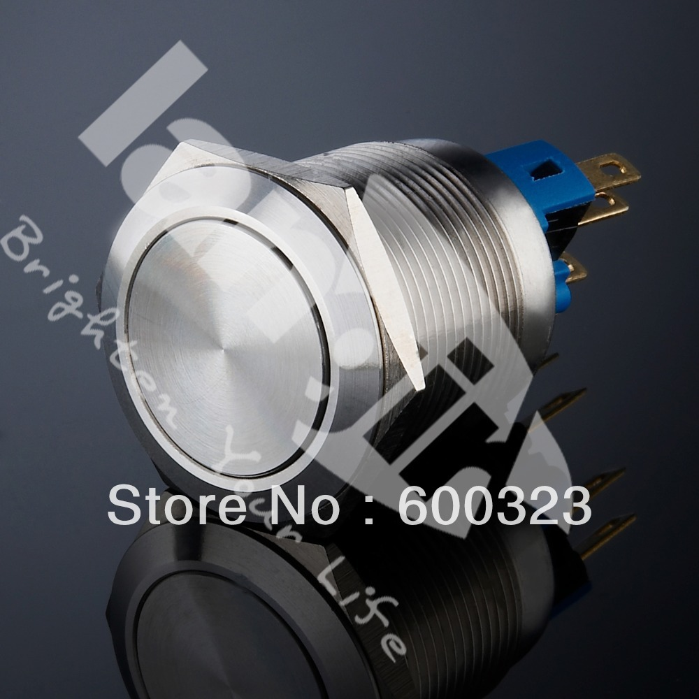 22mm Waterproof Latching Non-illuminated Switch L22 Stainless steel<br><br>Aliexpress